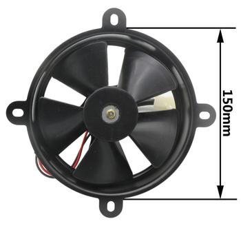 Radiador termo eléctrico w' ventilador de refrigeración 150cc 250cc Quad Dirt bicicleta ATV Buggy