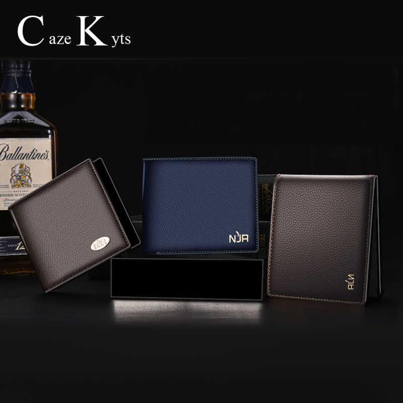 Titular do cartão homens carteiras saco de dinheiro retro curto bolsa de couro genuíno moda multi-funcional grande capacidade pacote de cartão superior