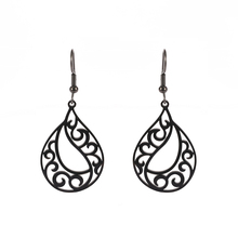 Sipuris Filigree Earrings for Women Stainless Steel Vintage Ethnic Bohemia Tear Dangle Drop Jewelry