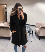 OEAK Winter Women Faux Fur Coat Luxury Long Fur Coat Loose Lapel OverCoat Fur Jacket Thick Warm Plus Size Female Plush Coats amazon top sale pullover multicolor coat women overcoat faux fur winter coats