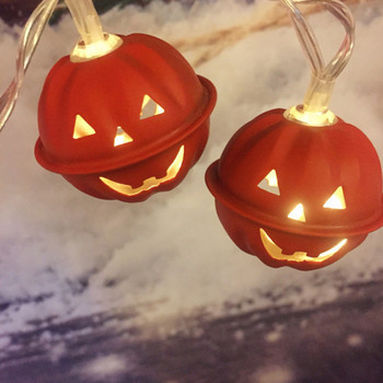 Halloween Pumpkin LED String Lights Battery Operated Halloween Holiday Christmas Party Garden Decoration Lights for Home Diwali image