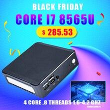 Nuc Mini ordenador de 8. ª generación, Intel Core i7 8565U, 32GB RAM, DDR4, NVME, SSD, bolsillo, PC, Windows 10 Pro, AC, Wifi, 4K, HTPC, HDMI2.0, tipo c