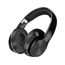 IKOLE Wireless Headphone Support Aux/TF Card/FM Radio/Bluetooth Headset with Microphone Stereo HIFI Deep Bass Folding Earphone