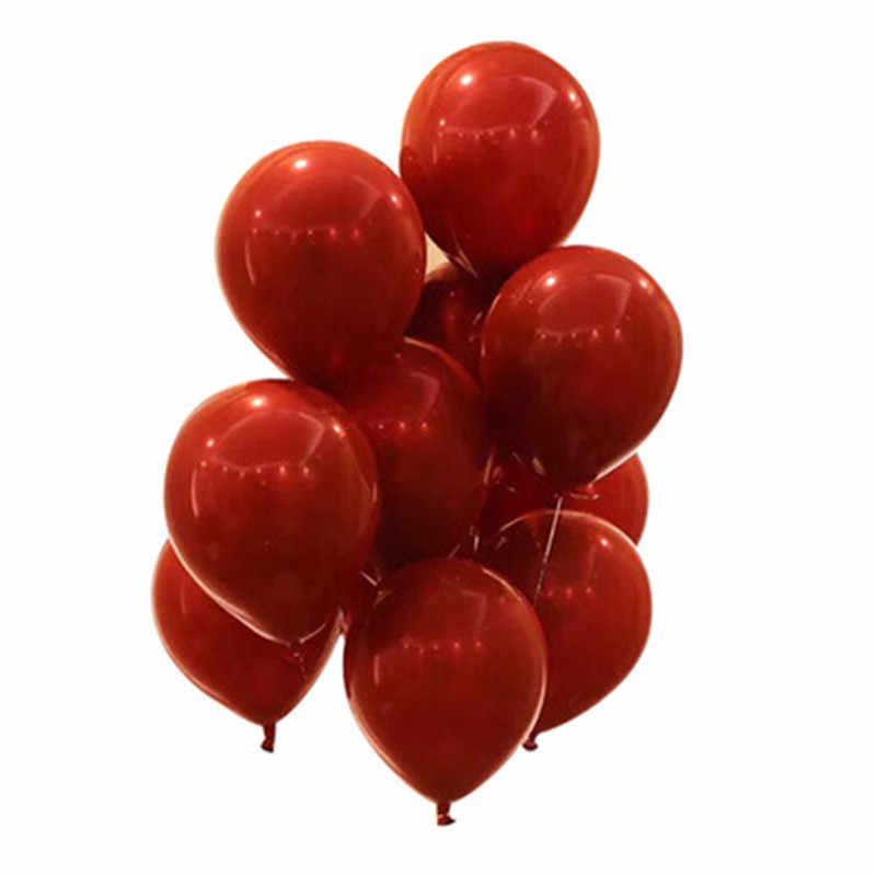 119 قطعة 10 بوصة/18 بوصة/36 بوصة روبي الأحمر لامع كروم الذهب طوق من البالونات طقم جارلاند الزفاف عيد ميلاد الطفل دش الطرف الديكور
