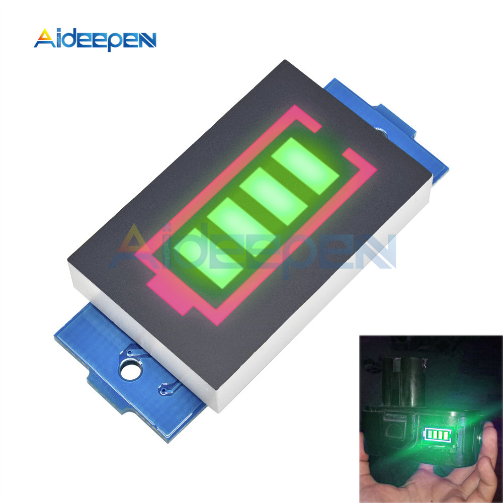 12.6V <font><b>3S</b></font> 18650 Li-po Li-ion Lithium <font><b>Battery</b></font> Packs <font><b>Battery</b></font> Capacity <font><b>Indicator</b></font> Meter Power Level Tester Module Display Board Panel image
