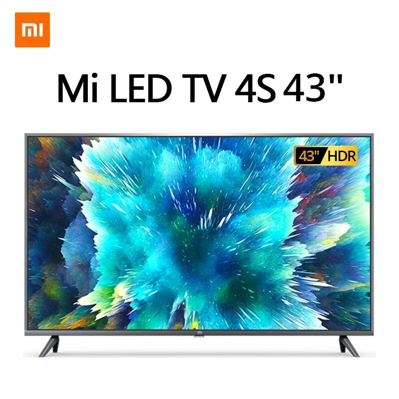 Xiaomi televisor inteligente 4K, 4S de 43 pulgadas con almacenamiento de 2G + 8G, admite Miracast, Netflix, Youtube, DVB T/T2 + C, LED, HDMI|Smart TV| - AliExpress