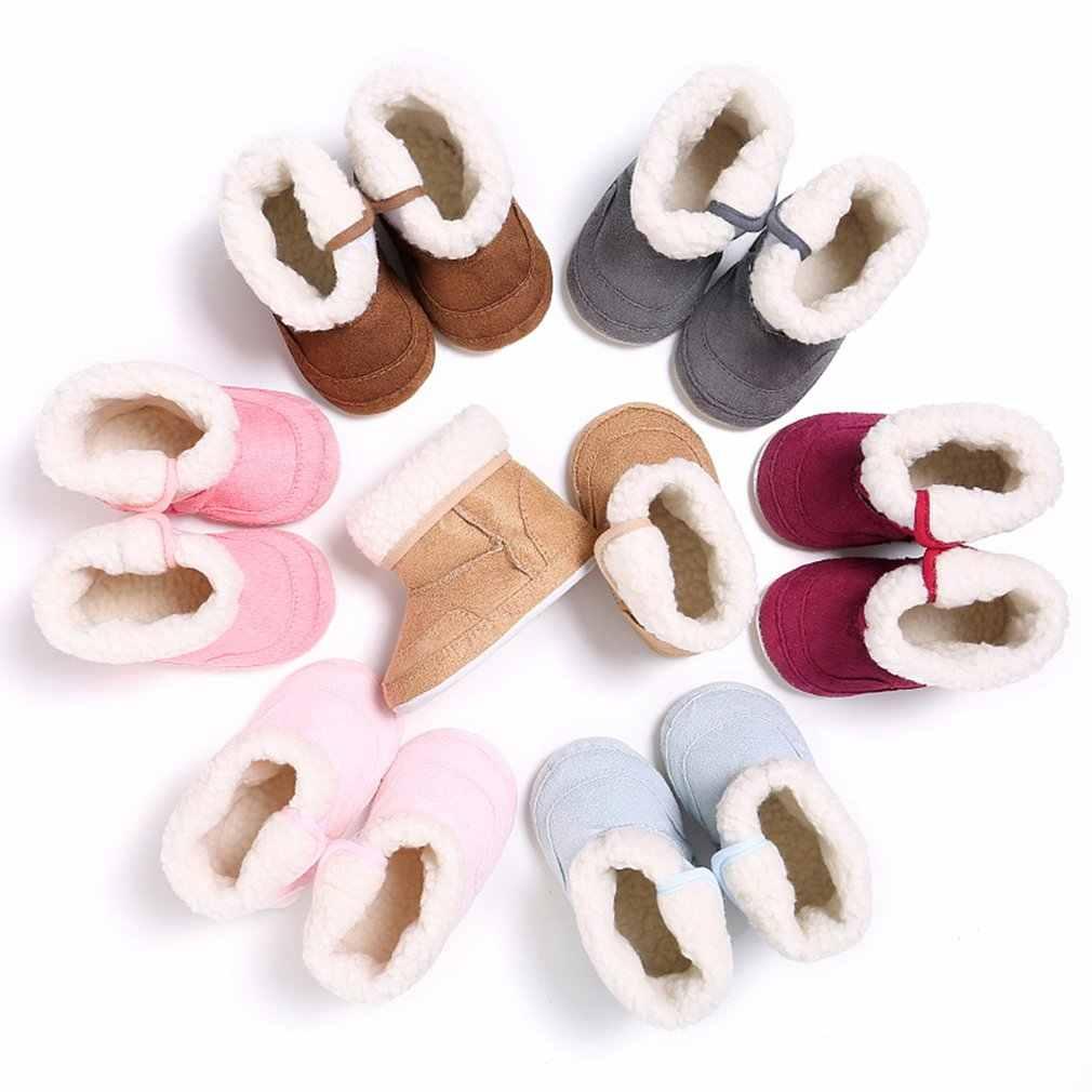 Outad marca novo bebê sapatos de algodão premium macio sola booties para a menina anti-deslizamento quente inverno infantil botas de neve da criança 7 cores