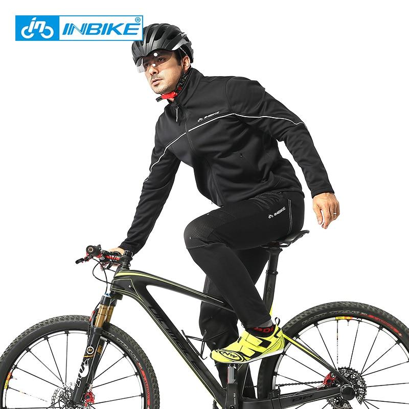 INBIKE hiver thermique cyclisme veste équitation costumes plein air Sport vêtements pantalon voyage escalade randonnée chaud manches longues vélo costume - 2