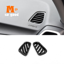 ABS Matte/Carbon fibre For Hyundai Tucson 2019 Car front Small air outlet Decoration Cover Trim Car Styling Accessories 2pcs for audi q3 2019 2020 abs matte carbon fibre car front column sound decoration cover trim car styling accessories 2pcs
