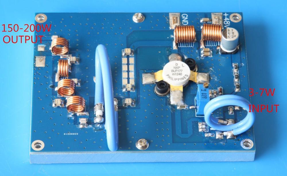 150W 200W(max)  RF FM Transmitter Amplifier FM 70-120MHZ Modulation Power Amplifier For Ham Radio Amplifier