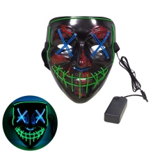 HOT SALE LED/EL Mask Cosplay Costume Full Face Covered Festival Party Light Up Masks Glow In Dark 4 Colors To Choose