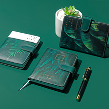 Leuke Groene Bladeren Thema Het Bos Dagboek Planners agenda Gevoerd Papier Boek 110mm * 154mm school&office supplise