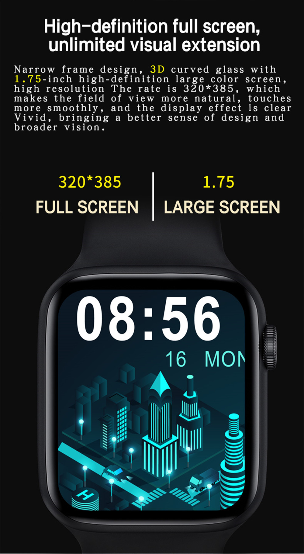 H157329c583af4dd7985532c435ce9332c 2021 HW22pro Smart Watch Men Women Split Screen Display Original Smartwatch Body Temperature Monitor BT Call For Android IOS IWO