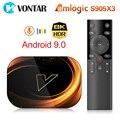 ТВ-приставка VONTAR X3, 8K, 4 + 128 ГБ, Android 9,0, Amlogic S905X3, 1000 м, Wi-Fi