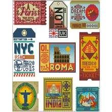 Шаблоны с изображением мировых штампов вышивка крестиком 11ct
