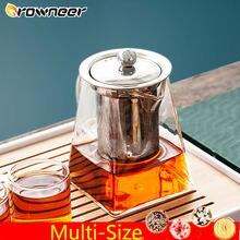Многоразмерный квадратный прозрачный чайник термостойкая стеклянная