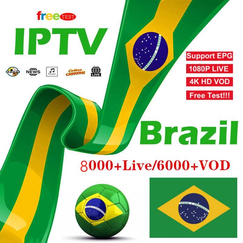 8000+ Live Ip Tv Box Brazil IPTV M3u Subscription Iptv Spain  UK German  Arabic Italy VOD Premium For  Enigma2 Smart TV