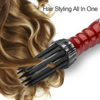 New 3 in1 Electric Hair Curler Hair Dryer Ionic Flat Iron Fast Heated Comb Hair Styling Brush Comb Volumizer Hot Air Brush Hair 5