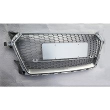 Hood grille racing grills for 2015-2018 Audi TT upgrade Audi TTRS silver front grille car parts without 4 rings
