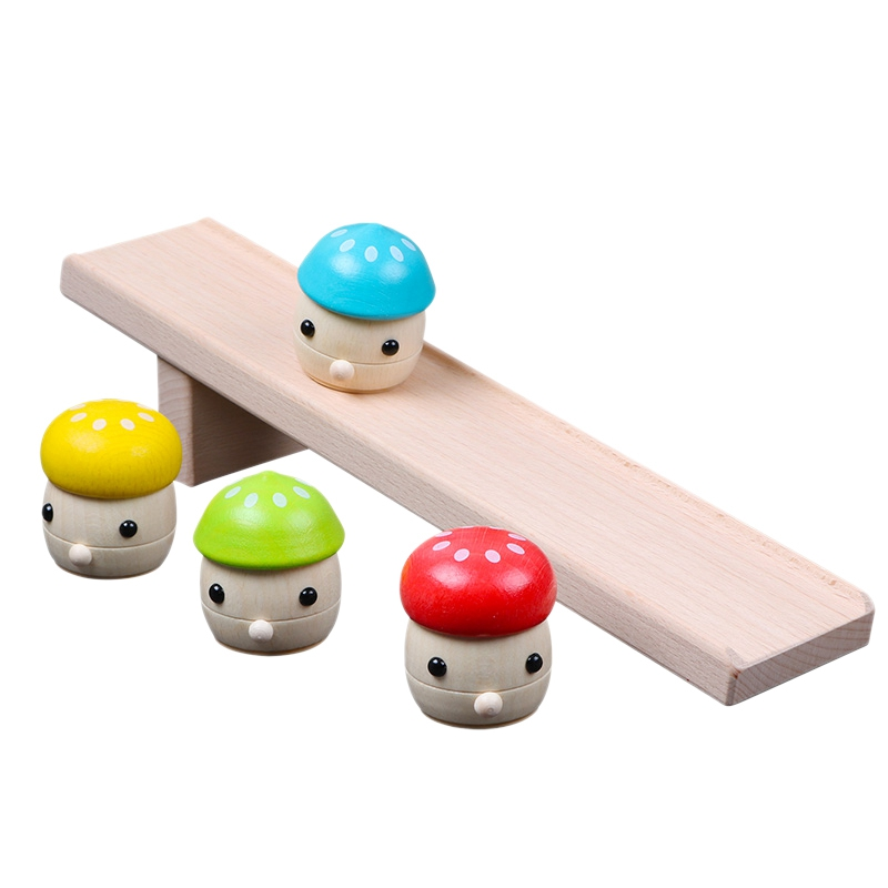 Puzzle Mushroom Slides, Toddlers, Early Education, Interest, Wooden Toys