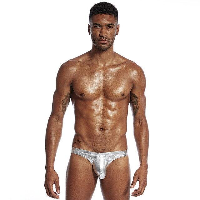 Męska seksowna jasna skóra węża dzika niska talia męska bielizna gejowska męskie majtki seksowna męska duża kieszonka na Penis bielizna