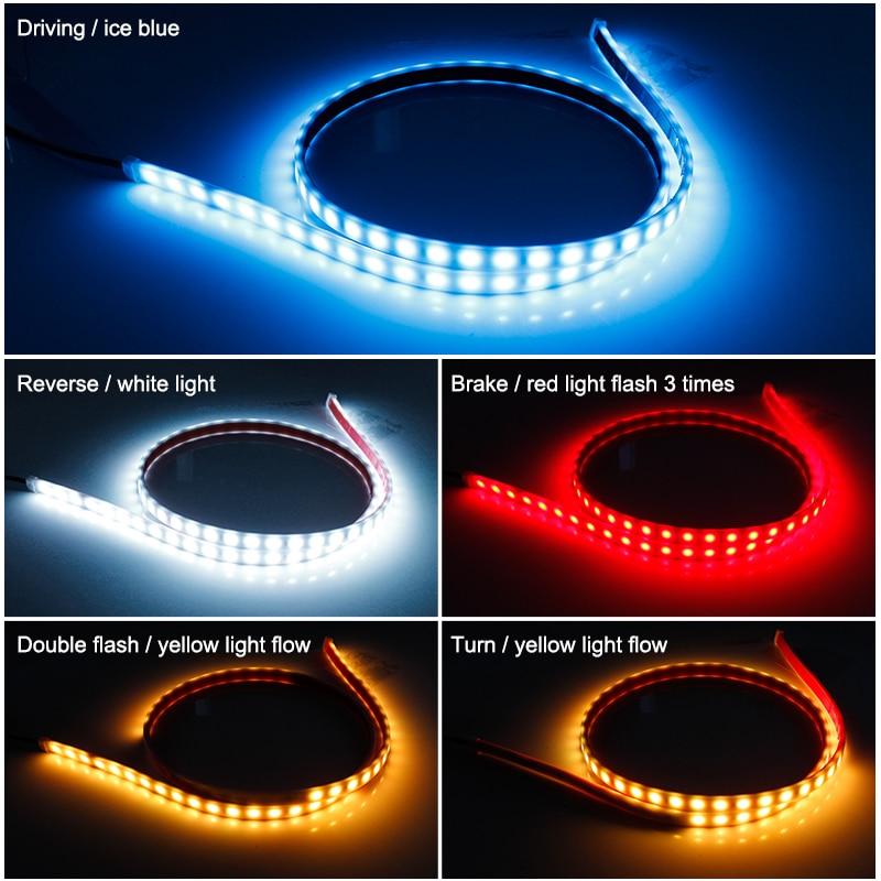 OKEEN Car LED trunk Strip light Dynamic Streamer Rear Tail Light Turn Signal LED Brake Reverse Leds Warning Light Signal Lamp