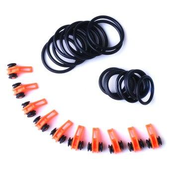 10 Set Plastic Fishing Hook Keeper Holder Hooks Keeper for Fishing Rod Pole Fishing Lures Bait Safety Holder Fishing Accessories - A - Orange - 10set, United States