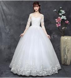 Gryffon Wedding Dress Luxury Half Sleeve O-neck Lace Up Ball Gown Princess Lace Embroidery Wedding Dresses Vestido De Noiva