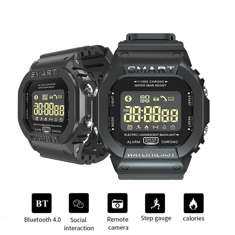 EX16T Smart Watch Men Waterproof IP67 Long Standby Bluetooth Smartwatch Remote Control Sports Pedometer Watch 5 ATM Wristwatch