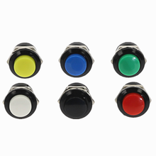 1Pcs 16mm 2PIN Plastic Push Button Momentary Switch 3A 150V 6Color