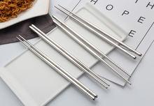 Палочки для еды из Кореи производитель 5 пар/компл Нержавеющаясталь