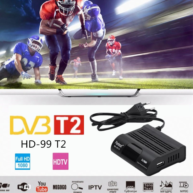 DVB HD-99 T2 Free Digital TV Box 1080P  Cable Receiver DVBT2 Tuner Dvb T2 Receiver Satellite TV Dvb-t2 Youtube IPTV Set Top Box