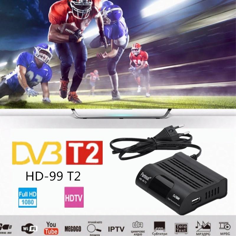 DVB HD-99 T2 Free Digital TV Box 1080P  Cable Receiver DVBT2 Tuner Dvb T2 Receiver Satellite TV Dvb-t2 Youtube IPTV Set Top Box