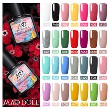 MAD DOLL 8ml Gel Nail Polish Sweet Colors Red Black Soak Off UV Gel Nail Varnish Nail Art DIY Beauty Design Gel