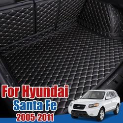Car Boot Tray Floor Protector Cargo Liner Custom Special Auto Carpet for Hyundai Santa Fe 2005 2006 2007 2008 2009 2010 2011