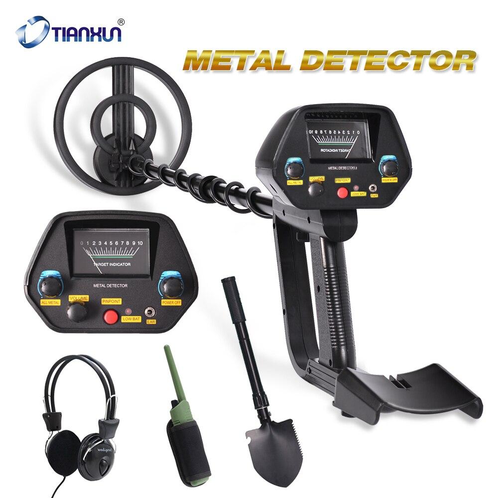 Shovel Adjustable Metal Detector Gold Digger Deep Sensitive Hunter W// Headphone