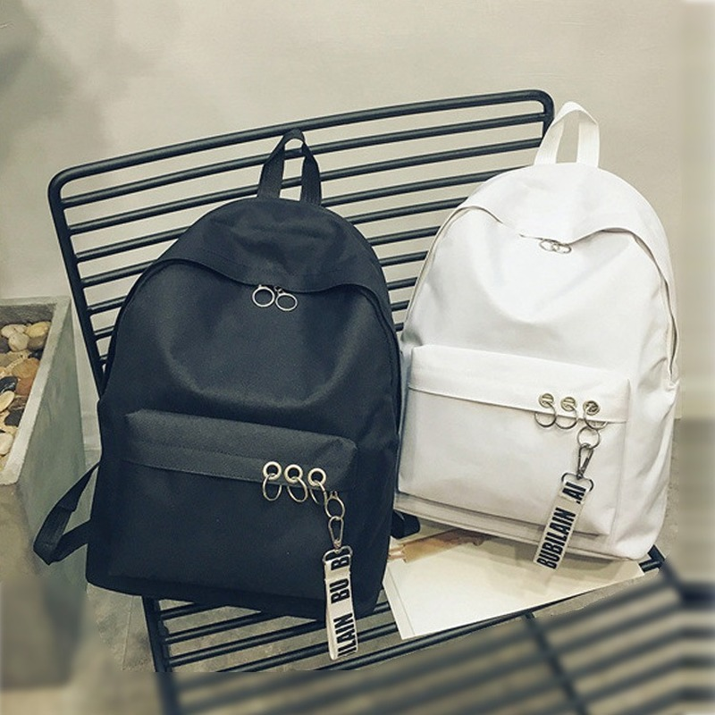 2019 New Lady Backpack High Quality Canvas Women Bag Korean Trend Pure Color Backpack School Bag