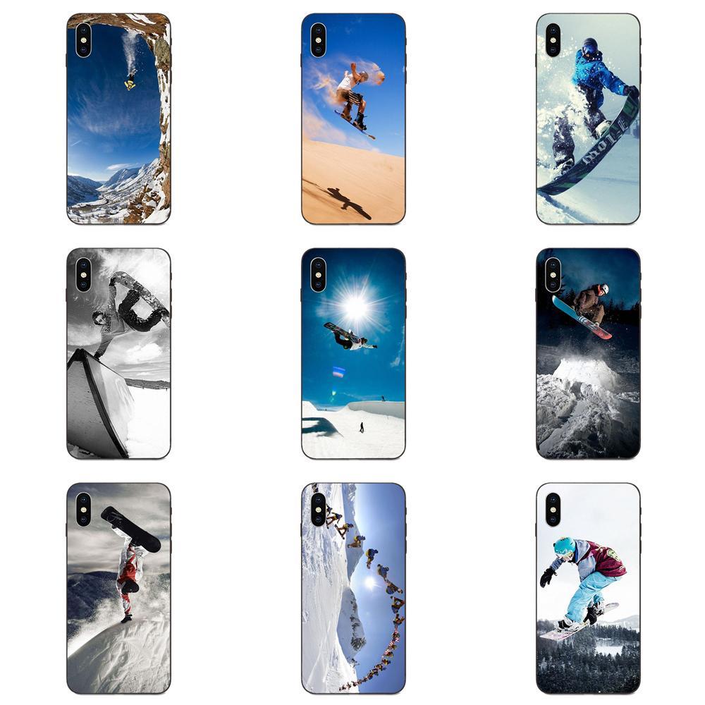 For Galaxy A3 A5 A6 A6s A7 A8 A9 A10 A20E A30 A40 A50 A60 A70 A80 A90 Plus 2018 TPU Print Capa Enjoy Snow Or Die Ski Snowboard