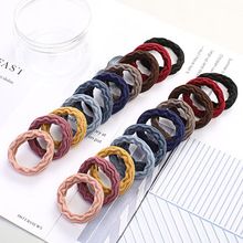 New Style Simple and Versatile for Tying Hair Rough Band Rubber Headwear Ponytail Rope