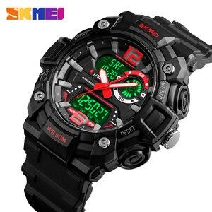 Image 2 - SKMEI Military Sports Watches Men Fashion Dual Display Digital Watch Waterproof Luminous Quartz Wristwatch montre homme 1529