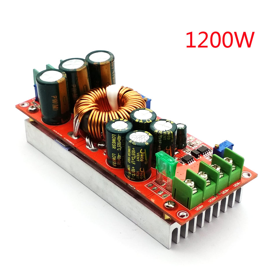 DC 20A 1200W Step-Up Boost Constant Current Module Variable Voltage Power Supply IN 8-60V Step Up Module