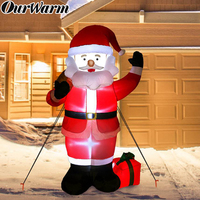 OurWarm 150cm Gaint Santa Claus Christmas Inflatable with Gift Bags Airblown Inflatable Christmas Yard Outdoor Decorations 2019