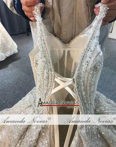 Image 4 - 2020 יוקרה ואגלי חתונת שמלת רצועות אמיתי עבודה סדר מותאם אישית