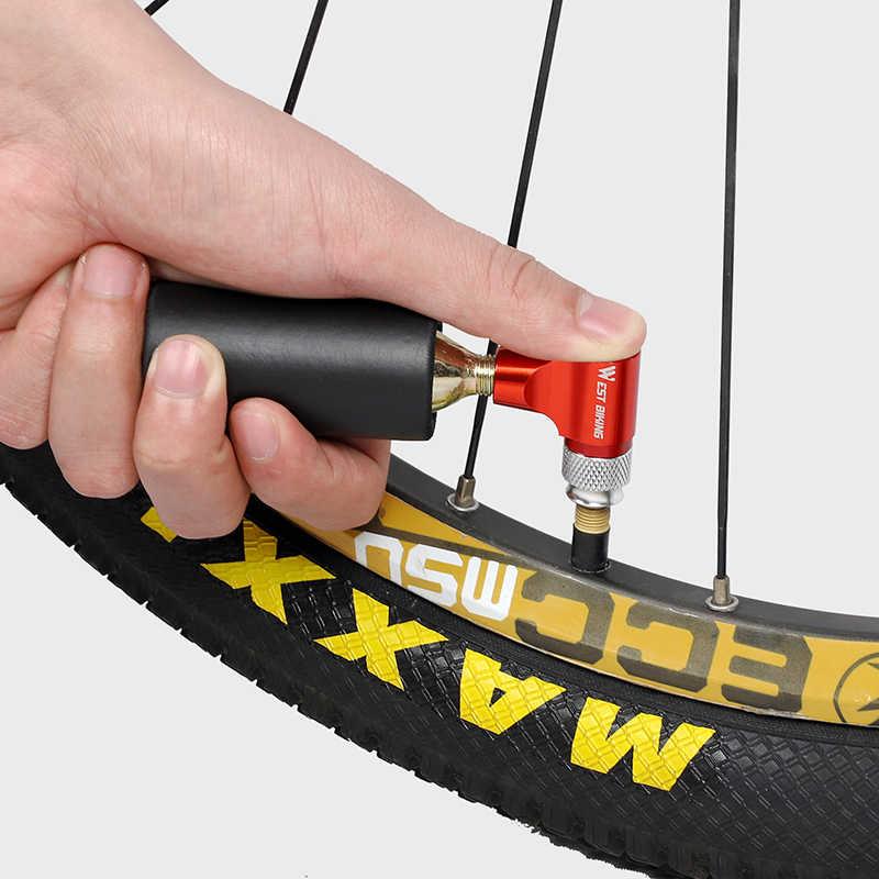 غرب ركوب الدراجات دراجة مضخة صغيرة الهواء CO2 مضخة شرادر بريستا محول منفاخ دراجة نافخة الألومنيوم الاطارات أنبوب صغير اليد دراجة مضخات