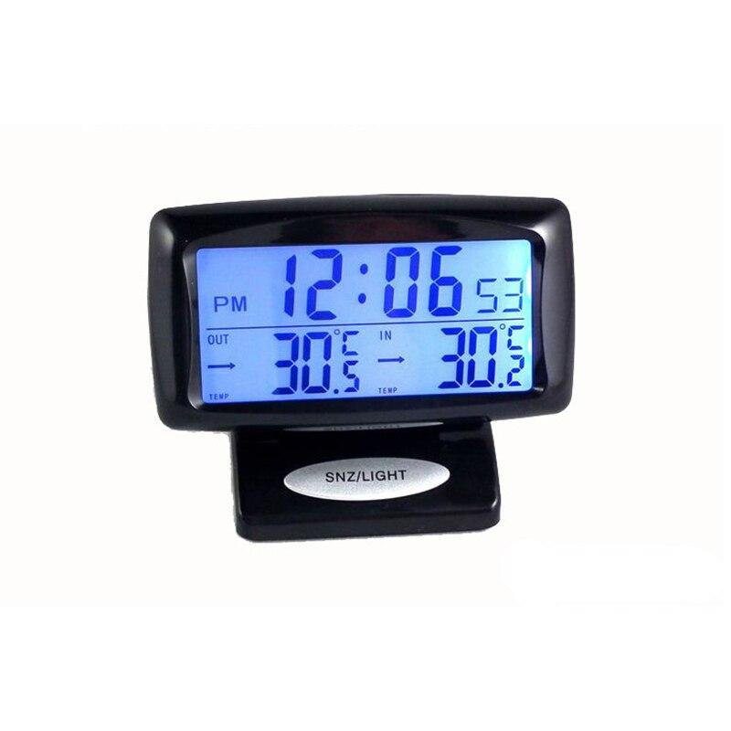 Horloge de voiture thermomètre horloge numérique voiture tableau de bord horloge voiture tableau de bord décoration Auto thermomètre intérieur et extérieur montre