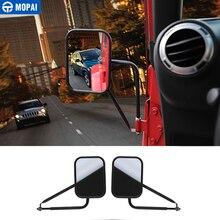 MOPAI Mirror Covers for Jeep Wrangler 1986 -2019 Car Rearview Mirror Cover Accessories for Jeep Wrangler YJ TJ JK JL 1986-2019 цены онлайн