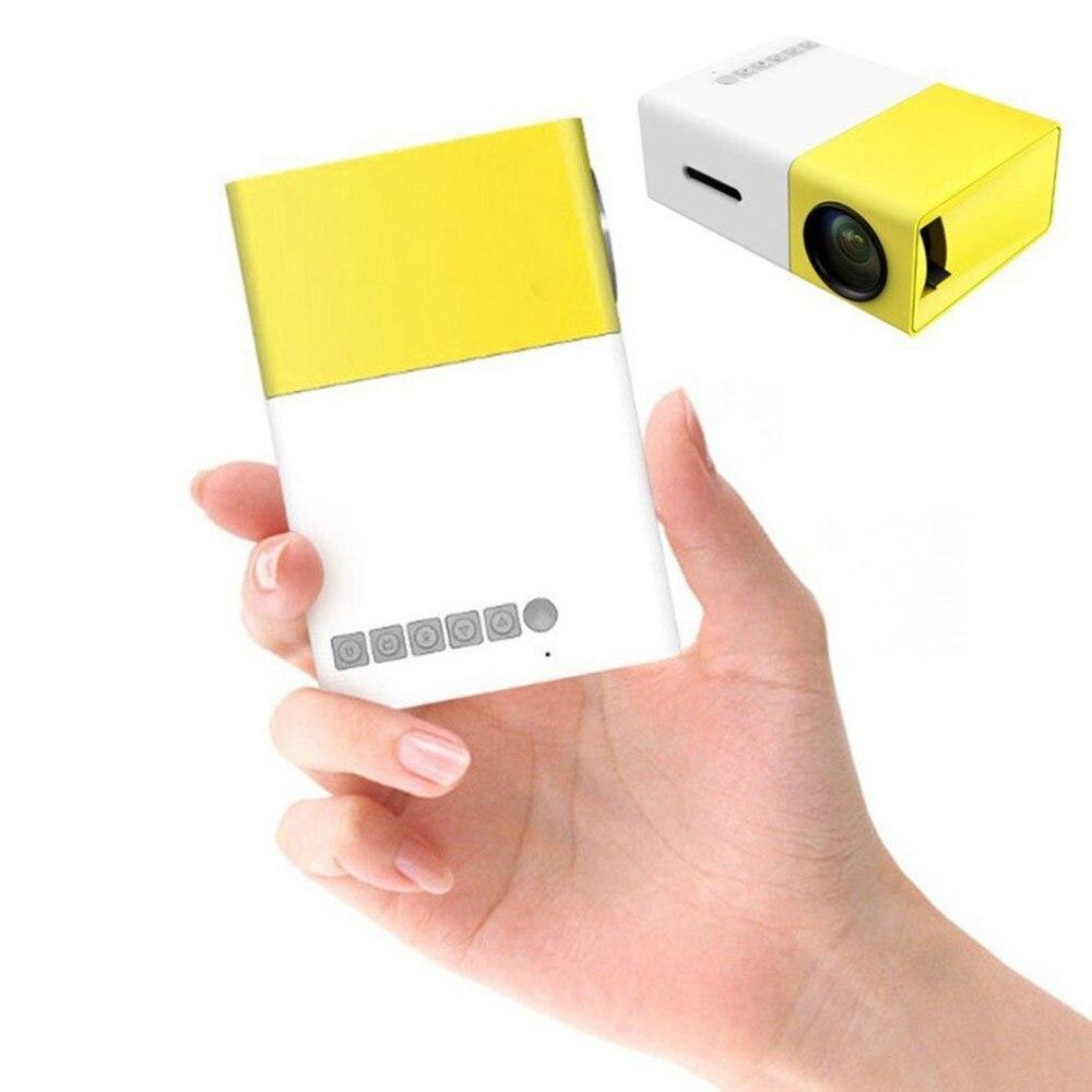 Livraison directe YG300 YG-300 LCD projecteur à LED portable Mini 400-600LM 1080p vidéo 320x240 Pixel lecteur de lampe à LED multimédia meilleure maison