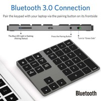 Wireless Numeric Keypad Aluminum BT Number Pad 34Keys External Number Keyboard