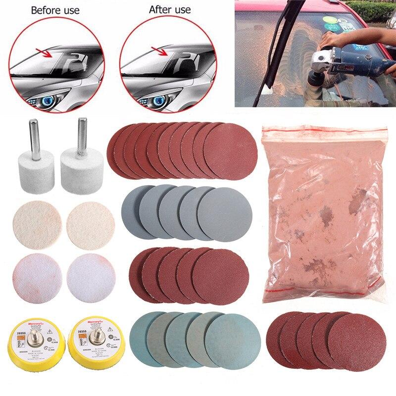 Cerium Oxide Polishing Powder Glass Polishing Kit For Deep Scratch Removal Powder Sanding Discs Pads Polishing Tools Set