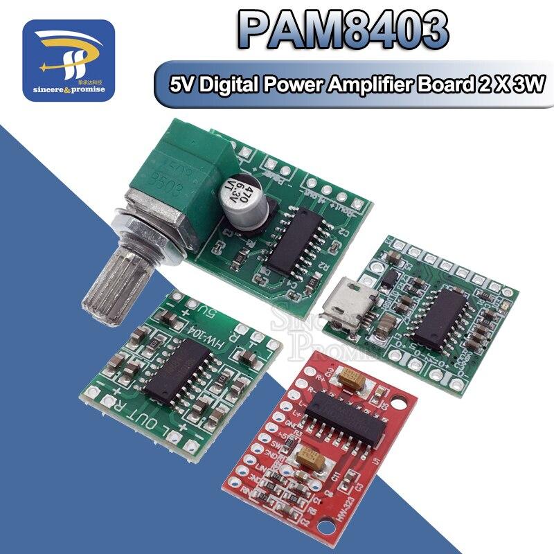 PAM8403 Module Digital Power Amplifier Board Miniature Class D Power Amplifier Board 2 * 3 W High 2.5 ~ 5 v USB Power Supply(China)